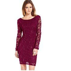 Lace Sequin Mini Dress
