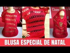 YouTube Crochet Art, Crochet Woman, Crochet Patterns, Crochet Pincushion, Blouse Models, Crochet Blouse, Beautiful Blouses, Crochet Videos, Crochet Squares