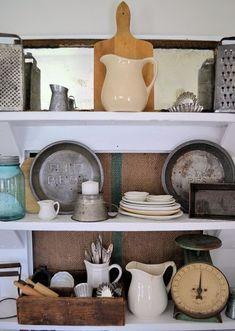 shelves made from an old door