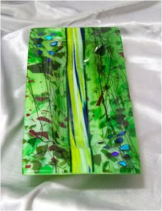 """Spring Bowl"" fused glass server by Raphael Schnepf"