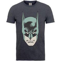 DC COMICS MEN'S TEE: ORIGINALS BATMAN HEAD Charcoal
