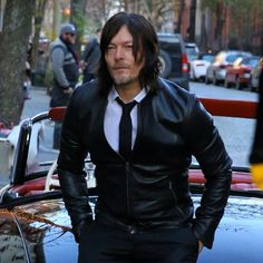 Norman Reedus during his photoshoot for 'Men's Fitness' in West Village in New York City