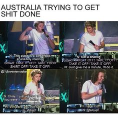 our Shy Niall.... <3 <3 Well at least they tried..