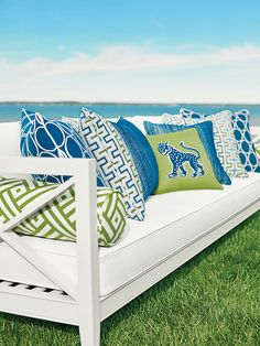 Our Favorite New Outdoor Fabrics For Spring/Summer 2016! | The Well Appointed House Blog | Thibaut Calypso Sunbrella Collection