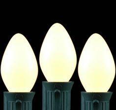 White Ceramic C7 5 Watt Replacement Bulbs 25 Pack
