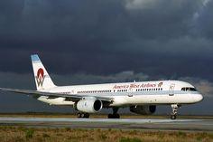America West Airlines, Boeing 757, JFK