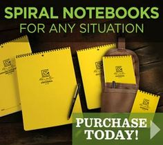 Rite in the rain, weather-usable notebooks.  and all weather pens.  (starting at $4)  These look like they would be good for a workout journal especially their sports pack.