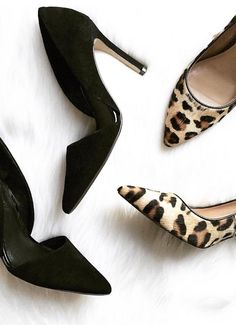 There is no such thing as too many pairs of pumps! Fashion Jackson shows  off her black D'Orsay pumps alongside these fierce leopard printed pumps.