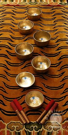 Tibetan Singing Bowl Set includes one Tuned each for Chakra. Sound Healing is very powerful. I love the tibetan bowls. They're tone is lovely and they are much smaller/ easier to work with for than crystal bowls. Healing Meditation, Chakra Healing, Meditation Space, Reiki, Tibetan Bowls, Yin En Yang, Little Buddha, Rose Quartz Heart, Sound Healing