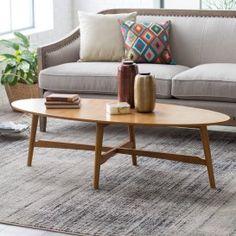 Belham Living Darby Mid Century Modern Coffee Table - Pecan Finish
