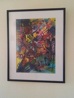 Original Modern Abstract Home Decor - City of Sins - water color on paper - glass framed with black panels. $60.00, via Etsy.    ...BTW,Please Check this out:  http://artcaffeine.imobileappsys.com