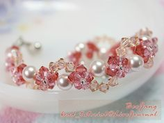This bracelet is quite easy and suitable for beginner who want to try something a little harder. Tutorial : Crystal Bracelet #8 Level : Beginner No, this is not my design. I saw it at Bead2U , my supplies store. Very lovely and quite easy too. Equipment : - Swarovski Bicone Crystal 4 mm. (I use…