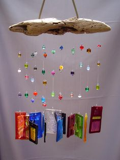 Fused Glass & Dichroic Wind Chime