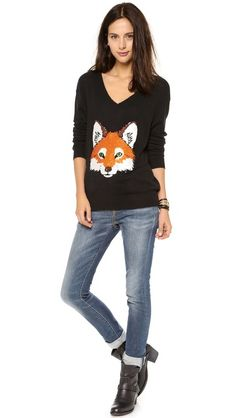 Wildfox Fox Trot Sweater
