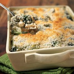 Healthy version of broccoli casserole, but the best I've ever had.  Super Yummy!