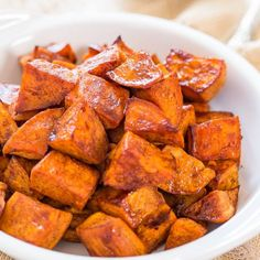 Honey-Roasted Sweet Potatoes with Honey-Cinnamon Dip - The honey glaze and the creamy cinnamon dip make these potatoes irresistible!