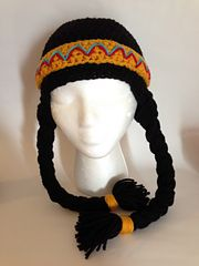 Ravelry: Pocahontas/Indian Girl Hat Pattern pattern by Gramma Beans