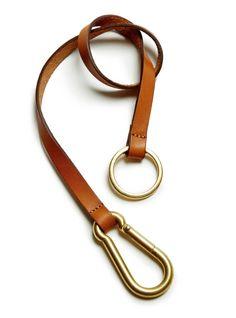Ghurka Leather Lanyard No. 227 - Chestnut Leather $85.00