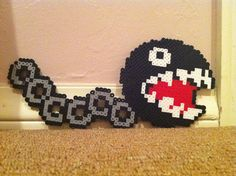 Perler Beads - Chain Chomp from Mario by Sophia S.