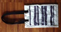 Black and white batik silk bag