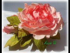 МК Цветы из фоамирана. Брошь-заколка с розой и бутонами. - YouTube