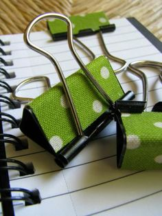 Fabric-covered binder clips