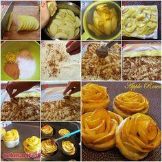 Yufkalı, elmalı gül tatlısı tarifi | Mutfak | Pek Marifetli!