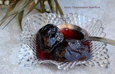 Γλυκό κουταλιού φρέσκο δαμάσκηνο (στον φούρνο) (VIDEO) - cretangastronomy.gr Sweets Cake, Marmalade, Cooking Tips, Liquor, Blueberry, Deserts, Sweet Home, Candy, Canning