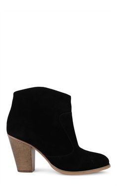 Deb Shops Short Western Bootie with Brushed Faux Suede $30.00