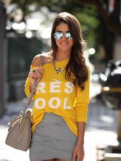 Camila Colho - Look do dia : Amarelo & Cinza Vem ver: http://supervaidosa.com/?p=17044