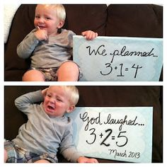 Our twin pregnancy announcement! Not that I will ever have twins just thought it was cute
