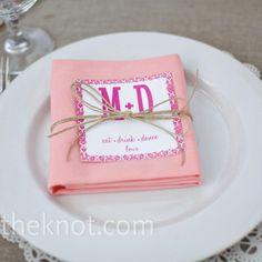 Cute napkin ideas for shower / luncheon