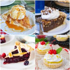 24 Must Make Pie Recipes - You will find 24 different fruit, cream, cheesecake, chocolate, and mini pie recipes that need to happen in your kitchen.