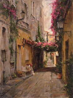 A superb painting! Michela# Art by Leonard Wren, American impressionist. I kind of think I have a thing for impressionist art. Contemporary Abstract Art, Wow Art, Impressionist Paintings, Beautiful Paintings, Deep Paintings, Oeuvre D'art, Art Inspo, Amazing Art, Art Photography