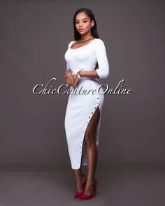 Chic Couture Online - Ofelia White Gold Buttons Ribbed Midi Skirt.(http://www.chiccoutureonline.com/ofelia-white-gold-buttons-ribbed-midi-skirt/)