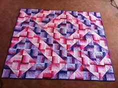 24 Blocks Martha Worthley 2 Color Convergence Wall Quilt