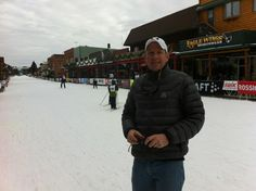 Bob Wilson in downtown Hayward on Friday (day before the big race) Friday Day, Cross Country Skiing, Canada Goose Jackets, Bob, Winter Jackets, Image, Fashion, Winter Coats, Winter Vest Outfits
