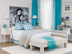 Propuesta de dormitorio turquesa