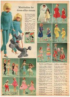 Barbie Skipper, Barbie And Ken, Barbie Dress, Barbie Outfits, Vintage Barbie Clothes, Vintage Dolls, Doll Clothes, Vintage Items, Blue Cotton Candy