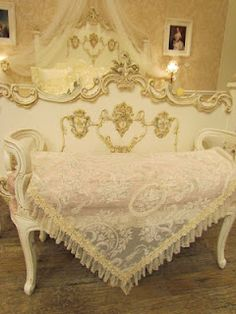 For lovers of shabby chic and lace. Great pillows, too.
