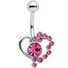 Engagement & Wedding Spirited Real 925 Sterling Silver Love Heart Dangle Cz 316l Surgical Steel Belly Bar Ring To Rank First Among Similar Products