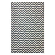 nuLOOM OWCHV01D Chevron Area Rug - Light Blue