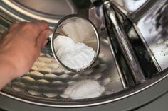 How to Clean A Washing Machine, add baking soda