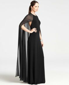 Satin Jersey Capelet Gown - Google Search