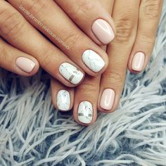 Nude marble nails  Delicate nails, glamour nails, style nails, marmur nail art