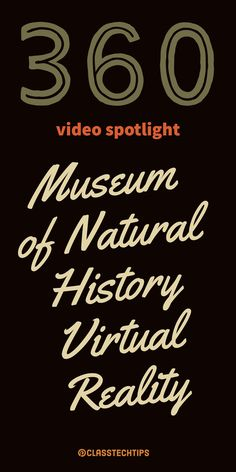 This Museum of Natural History virtual reality video is also a great option for exploring primary source documents. 360 video, history apps, virtual reality in education, virtual reality in the classroom, educational vr apps