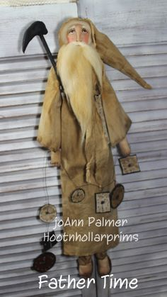 Father Time by Joann Palmer Hootnhollarprims   www.facebook.com/HootnhollarprimsByJoannPalmer