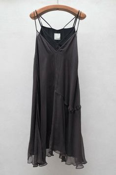 Charcoal Chiffon Layer Dress