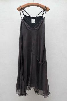 Charcoal Chiffon Layer Dress