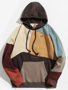 Clothes type hoodies style fashion pattern type color block letter material cotton polyester shirt length regular sleeves length full weight 0 men s hoodies turtleneck type sweatshirt Mode Outfits, Casual Outfits, Fashion Outfits, Style Fashion, Trendy Fashion, Tomboy Outfits, Dance Outfits, Punk Fashion, Lolita Fashion